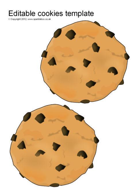 image regarding Cookie Template Printable known as Editable Cookie Templates (SB8900) - SparkleBox