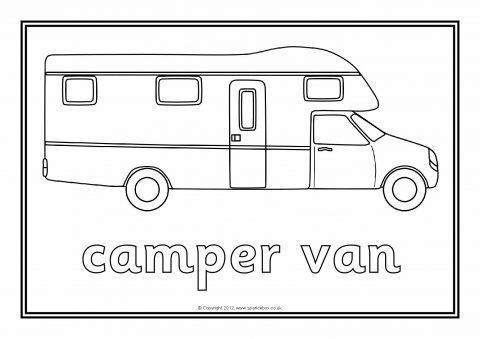 Camping Colouring Sheets