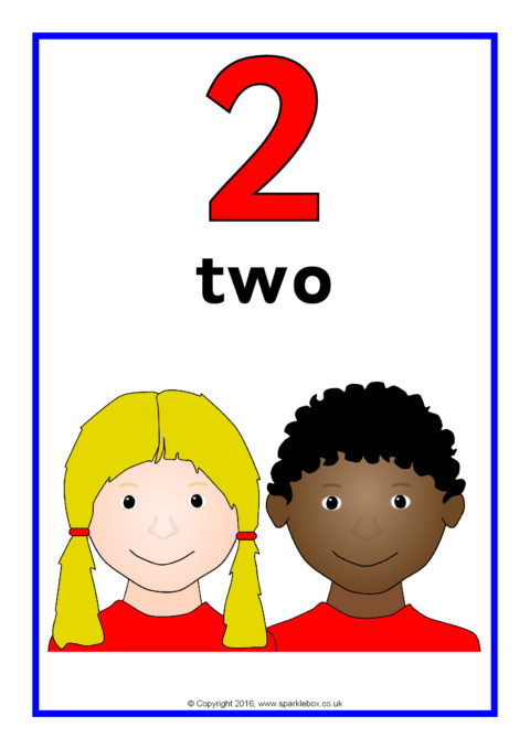 Children Number, Word and Picture Posters 1-20 (SB11624 ...