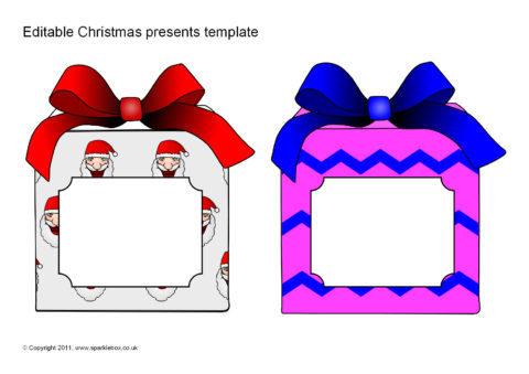 editable christmas present gift templates sb6623 sparklebox