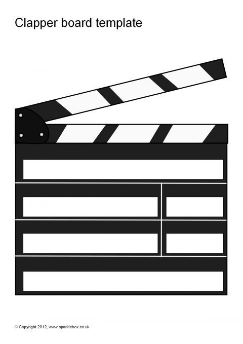 editable clapper board templates  sb7427