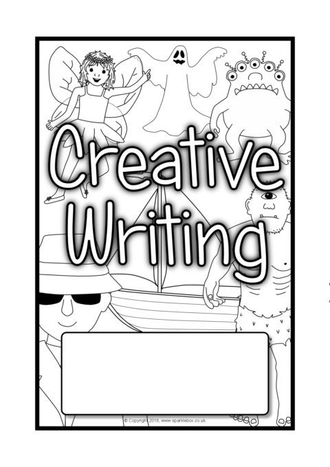 creative writing editable book covers  sb11550