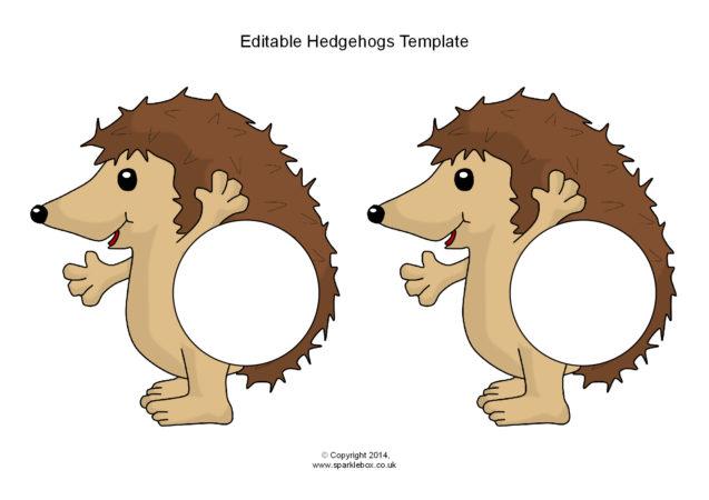 editable hedgehog templates  sb10656