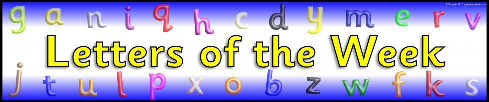Letter(s) of the Week Display Banners (SB11846) - SparkleBox