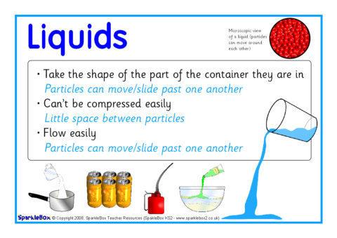 Solids Liquids And Gases Posters Sb6678 Sparklebox