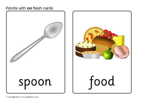 Words with oo Flash Cards (SB8666) - SparkleBox