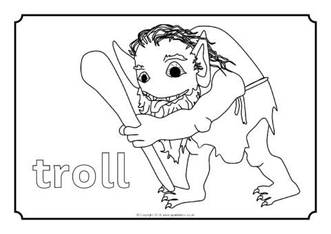 three billy goat gruff coloring pages | Three Billy Goats Gruff Colouring Sheets (SB10897 ...