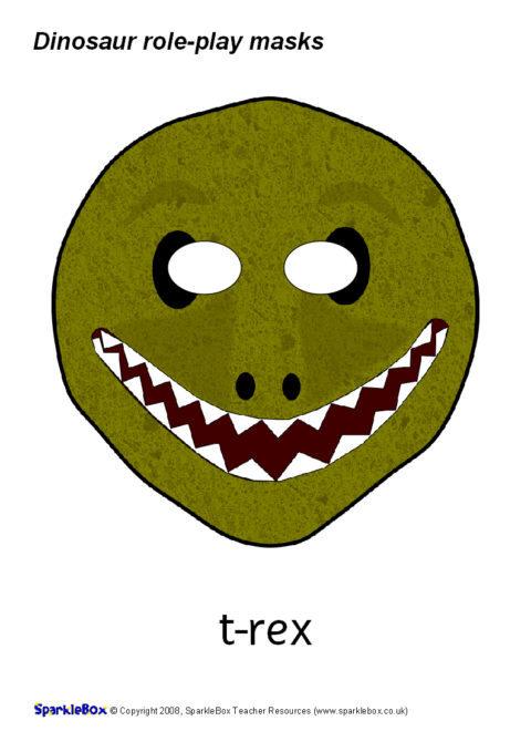Dinosaur Role-Play Masks (SB1352) - SparkleBox