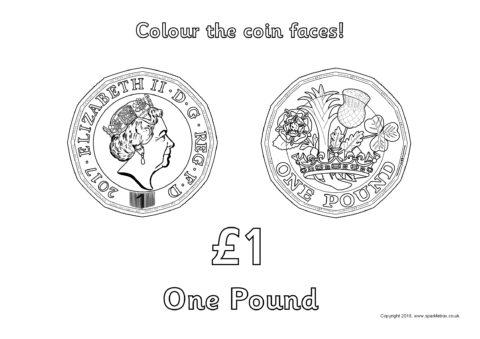 British Coins Colouring Sheets