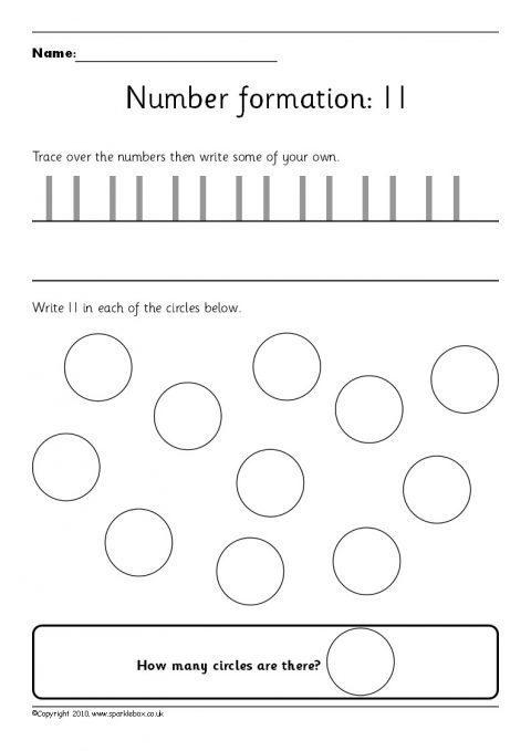 number 20 worksheets