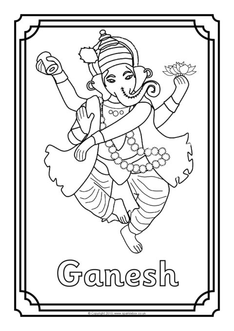 hindu gods printable coloring pages - photo#7