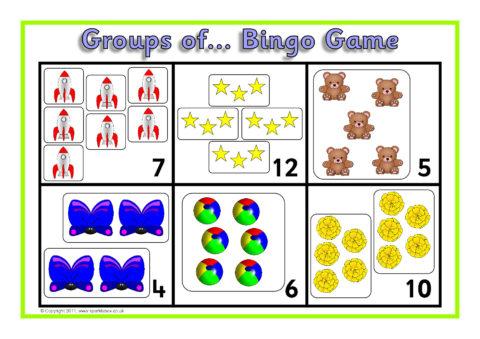 groups of arrays bingo sb6713 sparklebox. Black Bedroom Furniture Sets. Home Design Ideas