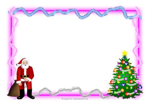 Christmas A4 Landscape Page Borders 1