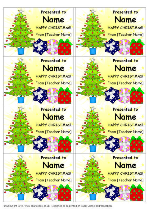 Editable Christmas Labels.Editable Christmas Gift Stickers Sb123 Sparklebox