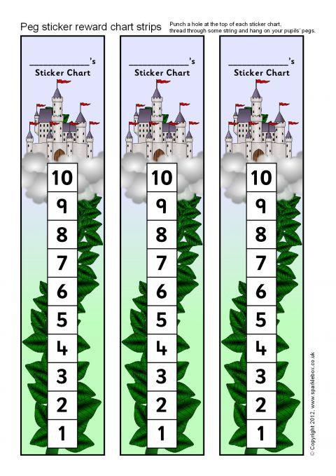 Classroom Design Chart ~ Peg sticker reward chart strips sb sparklebox