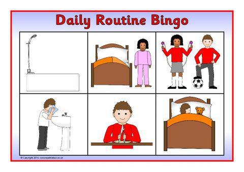 Daily Routine Bingo