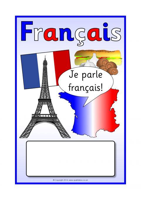 Book Cover Template Sparklebox ~ French français editable topic book covers sb