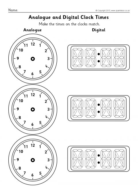 blank analogue and digital clock times worksheets sb9593 sparklebox. Black Bedroom Furniture Sets. Home Design Ideas