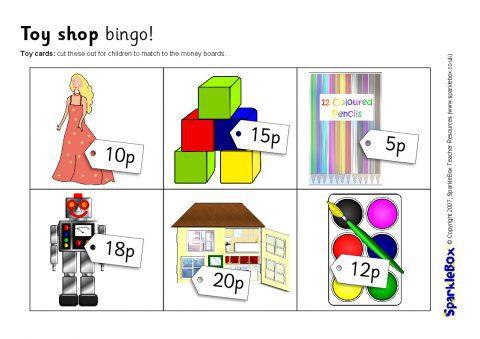 toy shop bingo up to 20p sb1131 sparklebox. Black Bedroom Furniture Sets. Home Design Ideas
