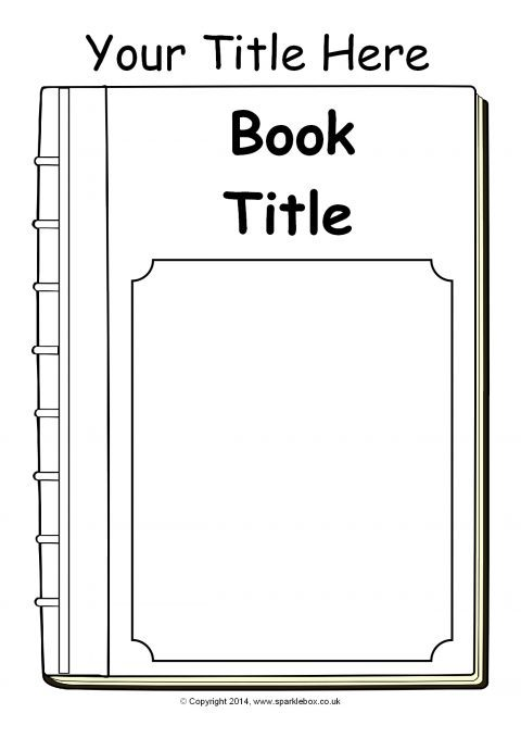 Book Cover Template Uk : Editable book cover templates black and white