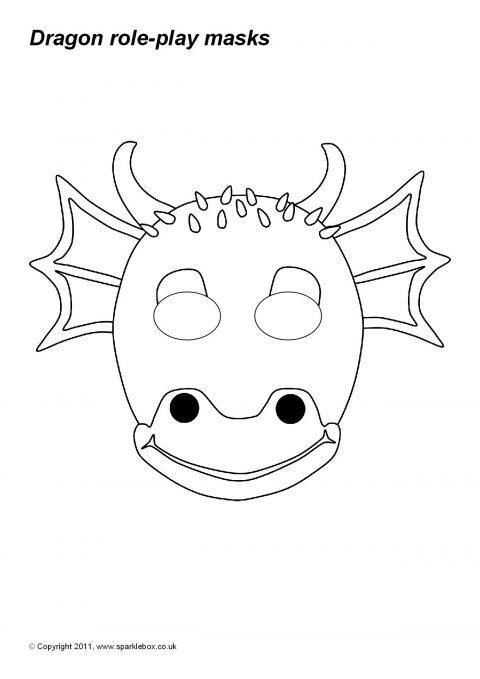 picture regarding Printable Dragon Mask called Dragon Purpose-Enjoy Masks (SB865) - SparkleBox