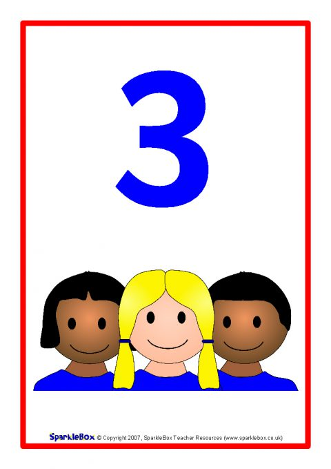 Children Number Posters 1-10  Sb954