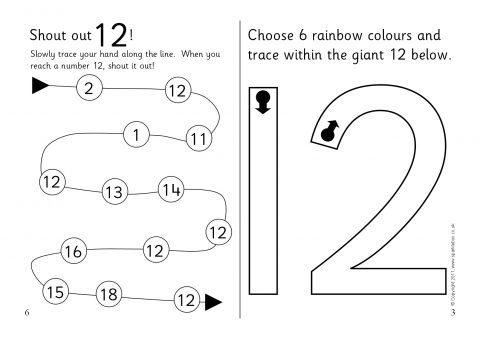 Printable Preschool Worksheets Number 12