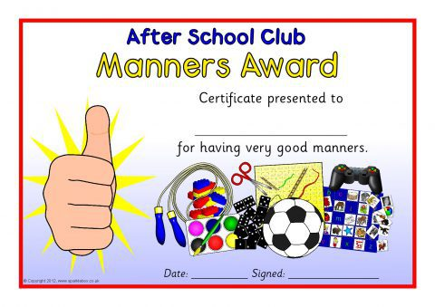 After School Club Award Certificates (SB7942) - SparkleBox