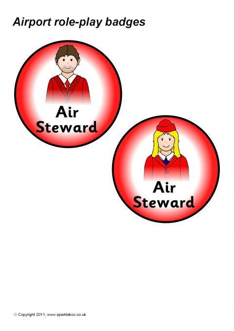 airport role-play badges  sb6973
