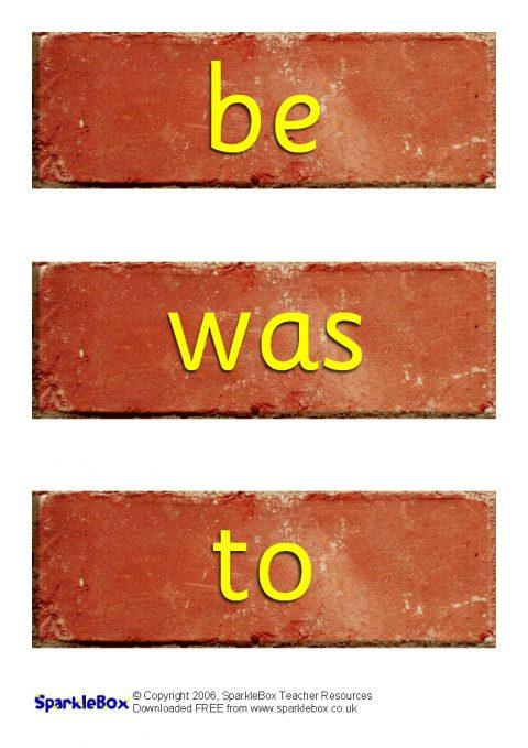 tricky words on bricks  sb504