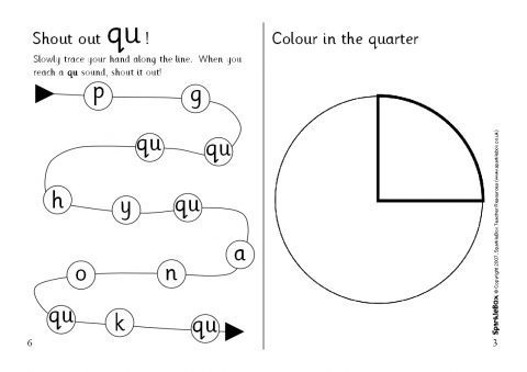 My Book About 'qu' (SB1023) - SparkleBox
