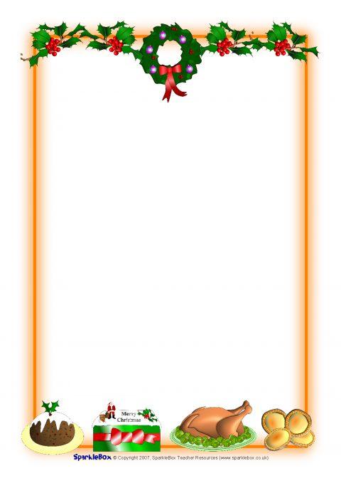 Christmas Page Border.Christmas A4 Portrait Page Borders 1 Sb1059 Sparklebox