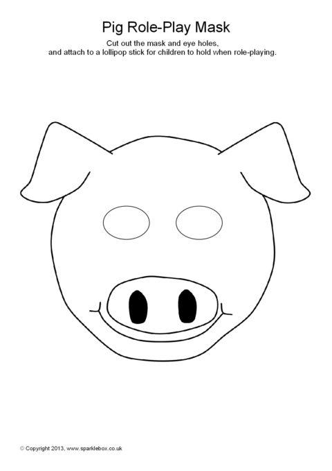 Pig Role Play Masks Sb9258 Sparklebox