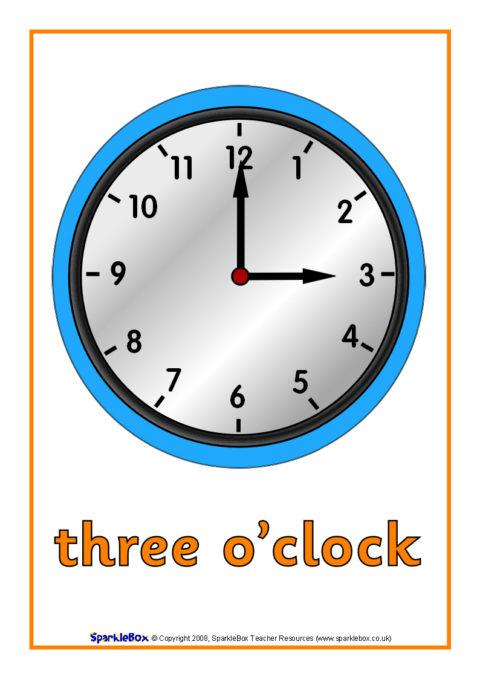 O Clock Time Posters Sb1428 Sparklebox
