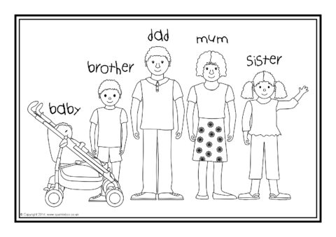 free coloring pages home and family | ESL Families Colouring Sheets (SB10268) - SparkleBox
