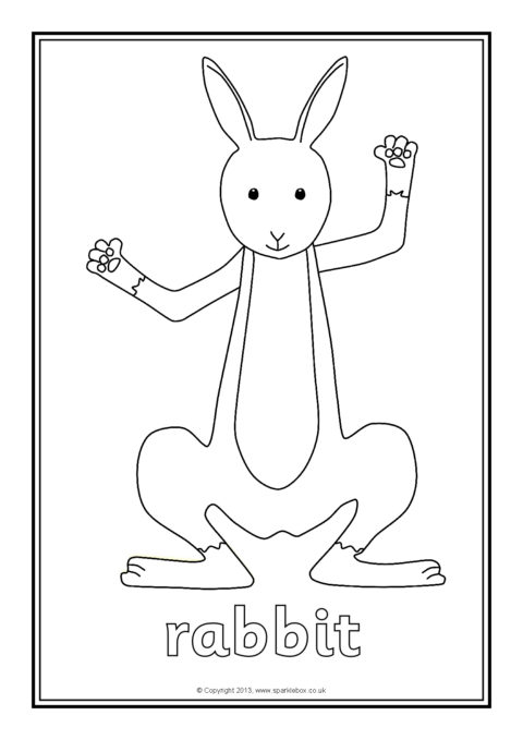 a set of simple colouring sheets featuring some of the