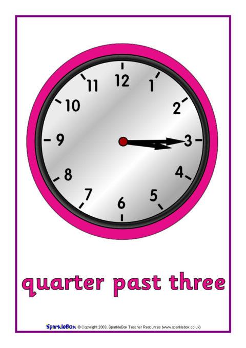 Quarter Past Time Posters (SB1794) - SparkleBox