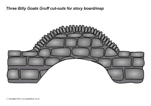 billy goats gruff story cut outs sb994