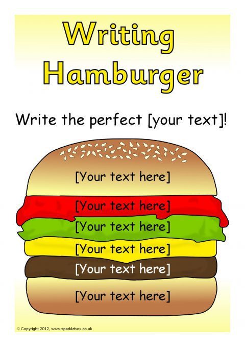 editable writing hamburger templates  sb7319