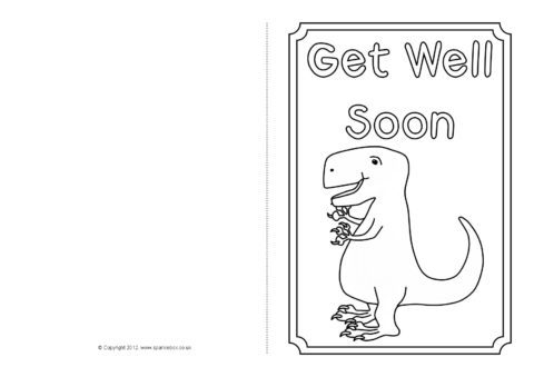 photograph relating to Get Well Soon Card Printable identified as Purchase Very well Quickly Card Colouring Templates (SB8890) - SparkleBox