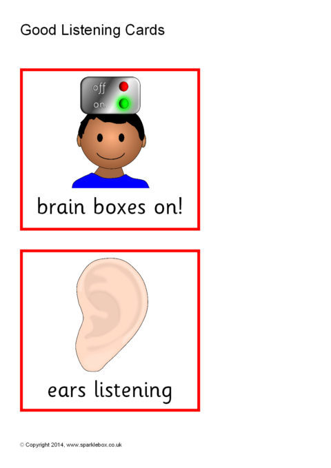 good listening cards  sb1002