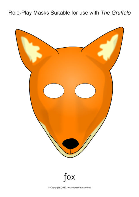 photo regarding Printable Fox Masks identified as Gruffalo Job-Perform Masks (SB9752) - SparkleBox