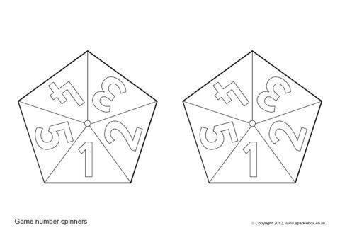 pencil spinner templates black and white sb7566 sparklebox