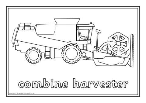Farm Machinery Colouring Sheets