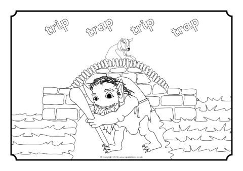 Three Billy Goats Gruff Colouring Sheets (SB10897) - SparkleBox