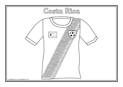 world cup soccer coloring pages   2018 World Cup Team Shirts Colouring Sheets (SB12513 ...