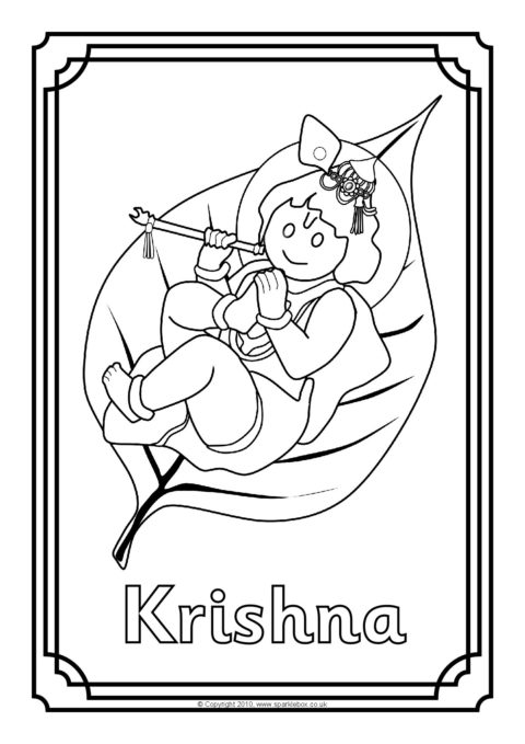 hindu gods printable coloring pages - photo#31