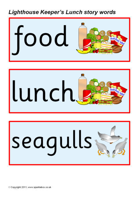 lighthouse keeper u2019s lunch story words  sb3809