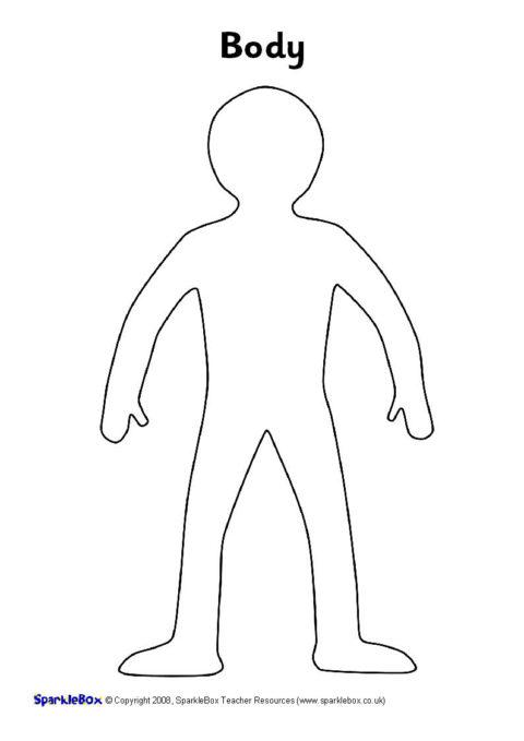 Body Template | A4 Body Templates Sb1585 Sparklebox