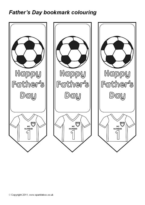 father u2019s day colouring bookmarks